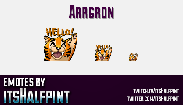Arrgron  | Twitch Emotes | Cute Emotes | Custom Twitch Emotes | Emote Commissions | itsHalfpint | Mi