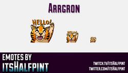 Arrgron  | Twitch Emotes | Cute Emotes | Custom Twitch Emotes | Emote Commissions | itsHalfpint | Mi