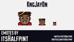 kngjay0n | Twitch Emotes | Cute | Custom | Commissions | itsHalfpint