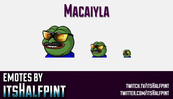 Macaiyla  | Twitch Emotes | Cute Emotes | Custom Twitch Emotes | Emote Commissions | itsHalfpint | M