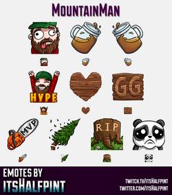 Mountain_Man  | Twitch Emotes | Cute Emotes | Custom Twitch Emotes | Emote Commissions | itsHalfpint