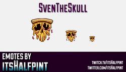 SvenTheSkull  | Twitch Emotes | Cute Emotes | Custom Twitch Emotes | Emote Commissions | itsHalfpint