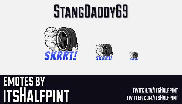 StangDaddy69  | Twitch Emotes | Cute Emotes | Custom Twitch Emotes | Emote Commissions | itsHalfpint