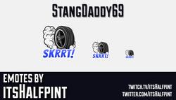 StangDaddy69  | Twitch Emotes | Cute Emotes | Custom Twitch Emotes | Emote Commissions | itsHalfpint