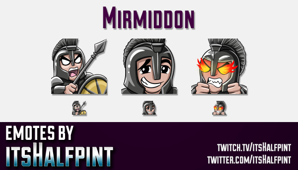 Mirmiddon | Twitch Emotes | Cute Emotes | Custom Twitch Emotes | Emote Commissions | itsHalfpint | M