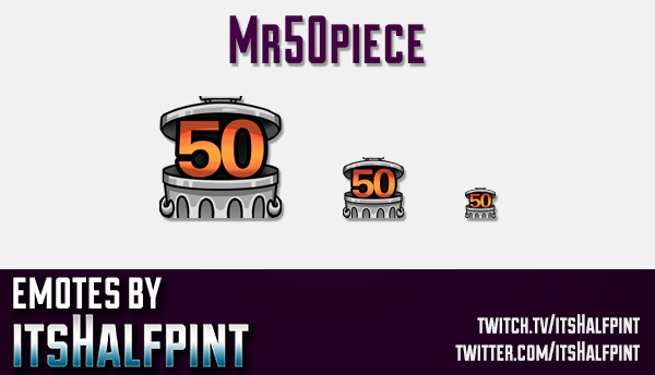 Mr50Piece | Twitch Emotes | Cute Emotes | Custom Twitch Emotes | Emote Commissions | itsHalfpint | M