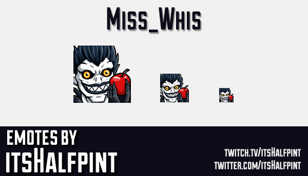 Miss_Whis | Twitch Emotes | Cute Emotes | Emote Artist | itsHalfpint