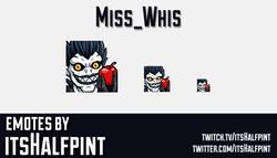 Miss_Whis | Twitch Emotes | Cute Emotes | Emote Artist | itsHalfpint