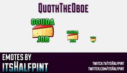 QuothTheOboe | Twitch Emotes | Cute Emotes | Custom Twitch Emotes | Emote Commissions | itsHalfpint