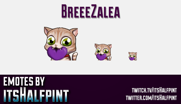 BreeeZalea | Cat emotes |  | Twitch Emotes | Cute Emotes | Custom Twitch Emotes | Emote Commissions