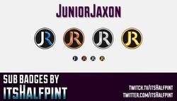 JuniorJaxonSubBadgesCard