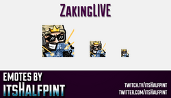 zakingLIVE  | Twitch Emotes | Cute Emotes | Custom Twitch Emotes | Emote Commissions | itsHalfpint |