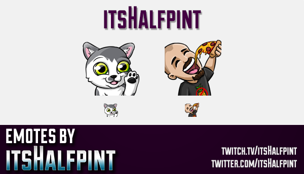 itsHalfpint  | Twitch Emotes | Cute Emotes | Custom Twitch Emotes | Emote Commissions | itsHalfpint