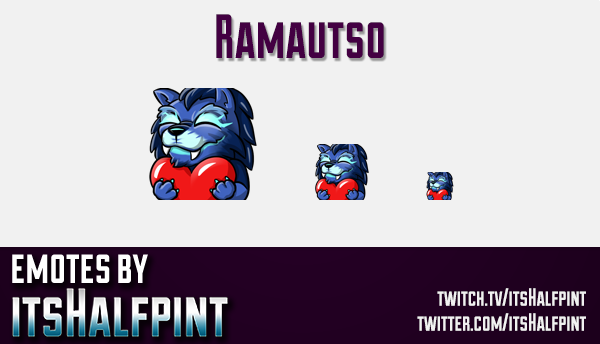 Ramautso  | Twitch Emotes | Cute Emotes | Custom Twitch Emotes | Emote Commissions | itsHalfpint | M
