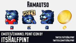 Ramautso | Twitch Emotes | Cute Emotes | Emote Commissions | itsHalfpint