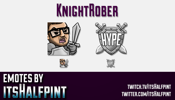 KnightRober | Twitch Emotes | Cute Emotes | Custom Twitch Emotes | Emote Commissions | itsHalfpint |