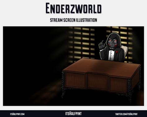 Enderzworld- itsHalfpint twitch emote artist | sub bit badge | avatar logo illustration | custom godfather