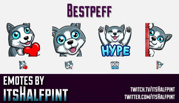 Bestpeff  | Twitch Emotes | Cute Emotes | Custom Twitch Emotes | Emote Commissions | itsHalfpint | M
