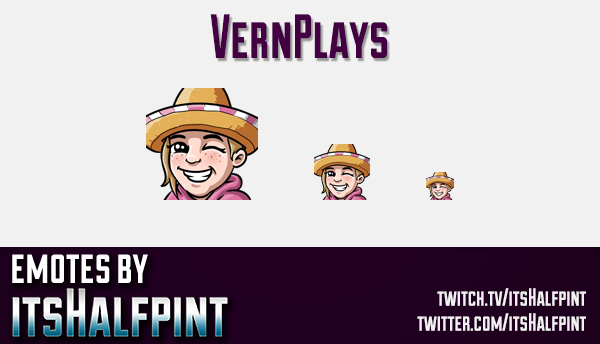 VernPlays  | Twitch Emotes | Cute Emotes | Custom Twitch Emotes | Emote Commissions | itsHalfpint |