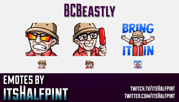 BCBeastly  | Twitch Emotes | Cute Emotes | Custom Twitch Emotes | Emote Commissions | itsHalfpint |