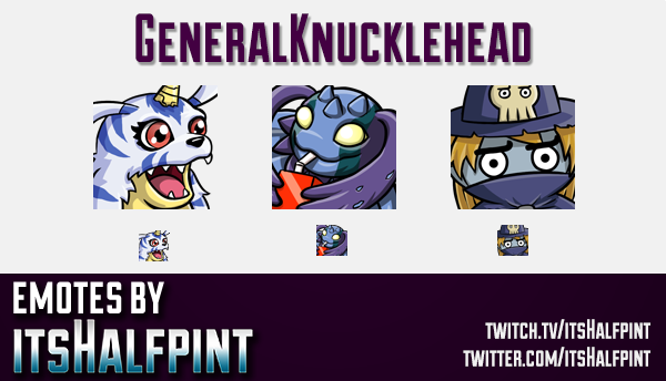 GeneralKnucklehead  | Twitch Emotes | Cute Emotes | Custom Twitch Emotes | Emote Commissions | itsHa