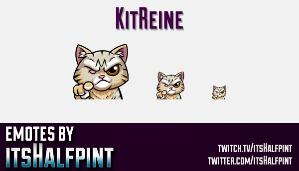 KitReine | Cat Emotes  | Twitch Emotes | Cute Emotes | Custom Twitch Emotes | Emote Commissions | it