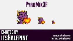 Pyromik3f  | Twitch Emotes | Cute Emotes | Custom Twitch Emotes | Emote Commissions | itsHalfpint |