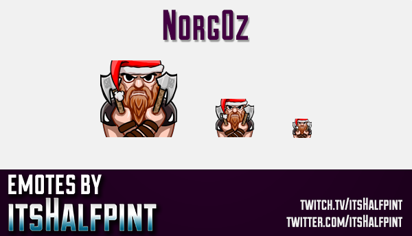 Norgoz  | Twitch Emotes | Cute Emotes | Custom Twitch Emotes | Emote Commissions | itsHalfpint | Mix