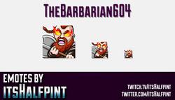 TheBarbarian604  | Twitch Emotes | Cute Emotes | Custom Twitch Emotes | Emote Commissions | itsHalfp