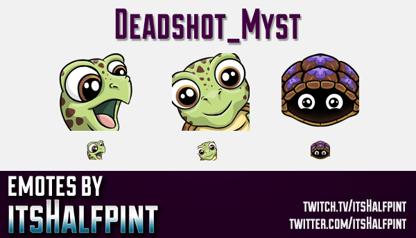 Deadshot_Myst  | Twitch Emotes | Cute Emotes | Custom Twitch Emotes | Emote Commissions | itsHalfpin