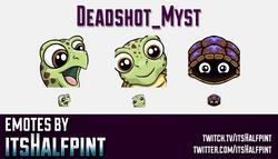 Deadshot_Myst  | Twitch Emotes | Cute Emotes | Custom Twitch Emotes | Emote Commissions | itsHalfpin