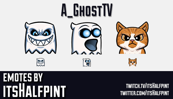 A_GhostTV | Twitch Emotes | Cute | Custom | Commissions | itsHalfpint