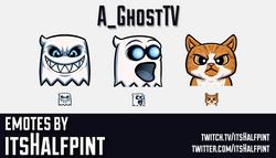 A_GhostTV | Twitch Emotes | Cute | Custom | Commissions | itsHalfpint