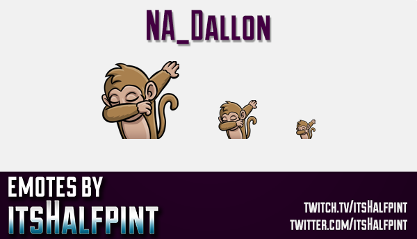 NA_Dallon  | Twitch Emotes | Cute Emotes | Custom Twitch Emotes | Emote Commissions | itsHalfpint |