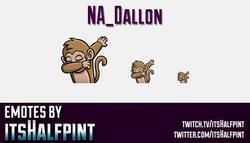 NA_Dallon  | Twitch Emotes | Cute Emotes | Custom Twitch Emotes | Emote Commissions | itsHalfpint |