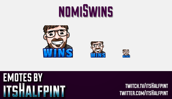 nomiSwins | Twitch Emotes | Cute Emotes | Custom Twitch Emotes | Emote Commissions | itsHalfpint | M