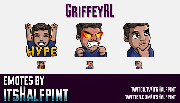 GriffeyRL  | Twitch Emotes | Cute Emotes | Custom Twitch Emotes | Emote Commissions | itsHalfpint |
