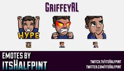 GriffeyRL  | Twitch Emotes | Cute Emotes | Custom Twitch Emotes | Emote Commissions | itsHalfpint |