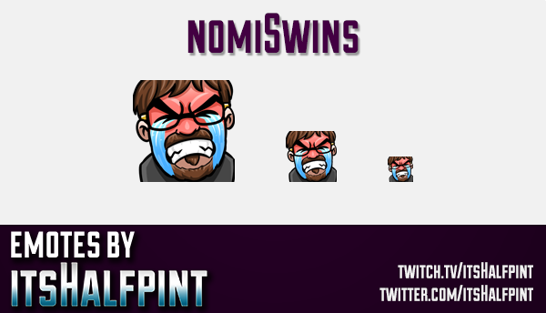 nomiSwins  | Twitch Emotes | Cute Emotes | Custom Twitch Emotes | Emote Commissions | itsHalfpint |