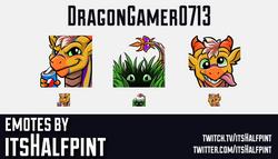 DragonGamer0713 | Dragon Emotes  | Twitch Emotes | Cute Emotes | Custom Twitch Emotes | Emote Commis