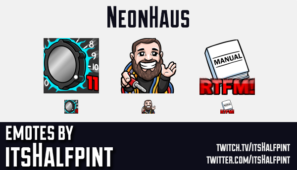 Neonhaus | Twitch Emotes | Cute Emotes | Custom Twitch Emotes | Emote Commissions | itsHalfpint | Mi