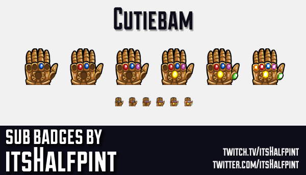 Cutiebam- | Twitch Sub Badges | Thanos | Avengers
