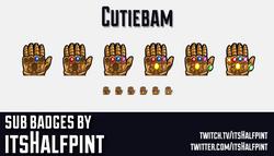 Cutiebam-   Twitch Sub Badges   Thanos   Avengers