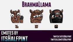 BrahmaLlama  | Twitch Emotes | Cute Emotes | Custom Twitch Emotes | Emote Commissions | itsHalfpint