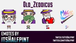 Old_Zeddicus  | Twitch Emotes | Cute Emotes | Custom Twitch Emotes | Emote Commissions | itsHalfpint