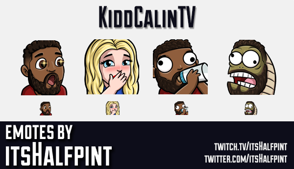 KiddCalinTV | Twitch Emotes | Cute | Custom | Commissions | itsHalfpint