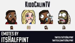 KiddCalinTV | Twitch Emotes | Cute | Custom | Commissions | itsHalfpint