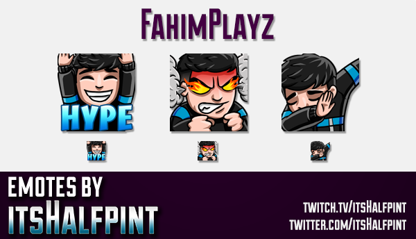 FahimPlayz | Twitch Emotes | Cute Emotes | Custom Twitch Emotes | Emote Commissions | itsHalfpint |