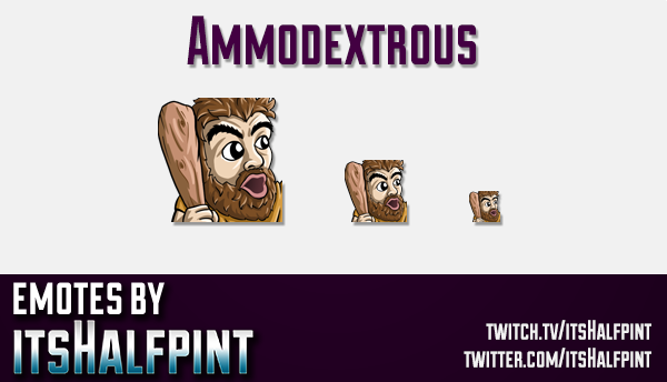 Ammodextrous | Twitch Emotes | Cute Emotes | Custom Twitch Emotes | Emote Commissions | itsHalfpint