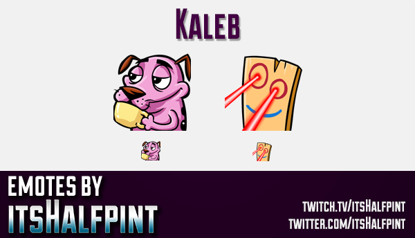 Kaleb  | Twitch Emotes | Cute Emotes | Custom Twitch Emotes | Emote Commissions | itsHalfpint | Mixe